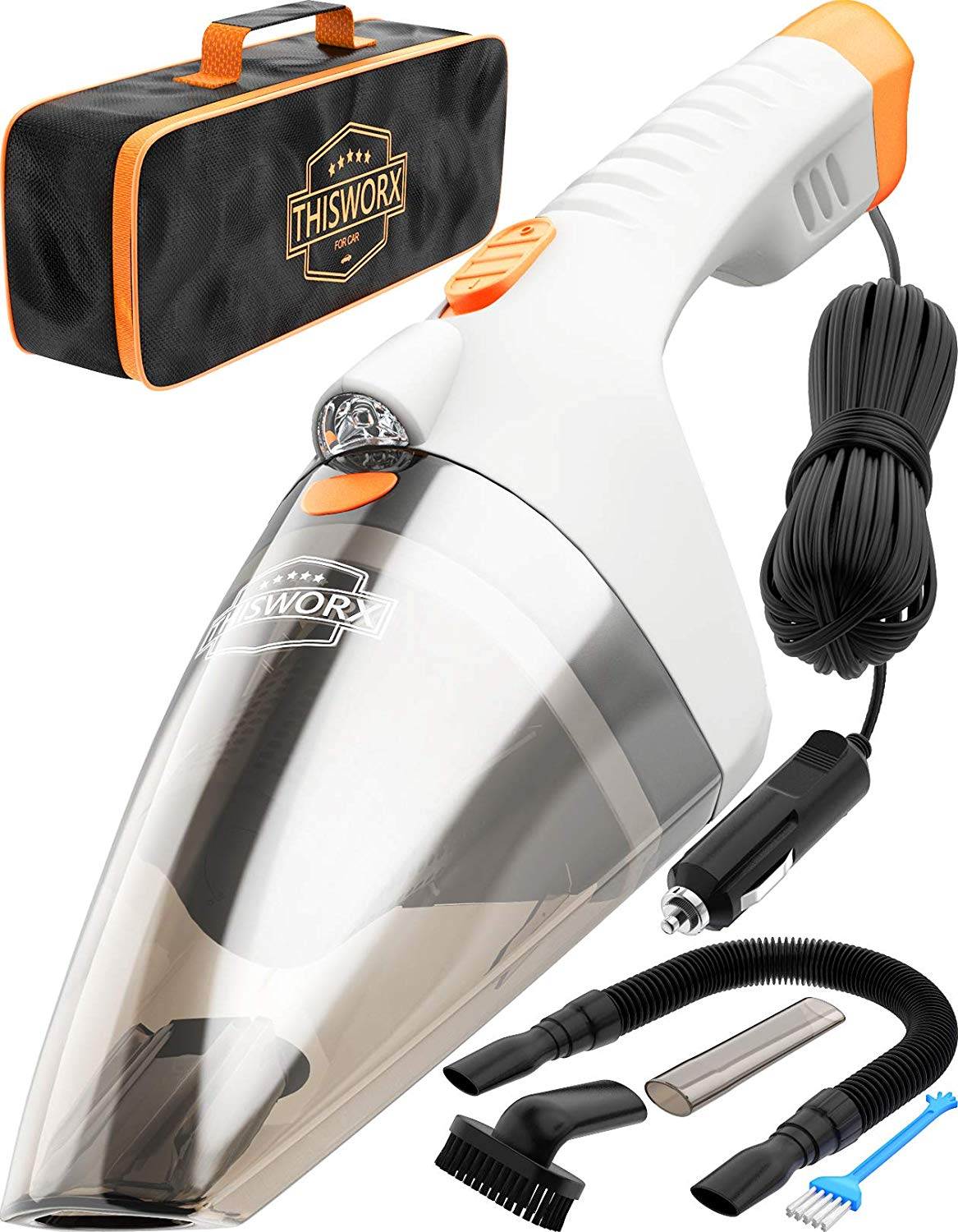 Car Vacuum Cleaner High Power - 110W 12v Corded auto Portable Vacuum Cleaner for Car Interior Cleaning