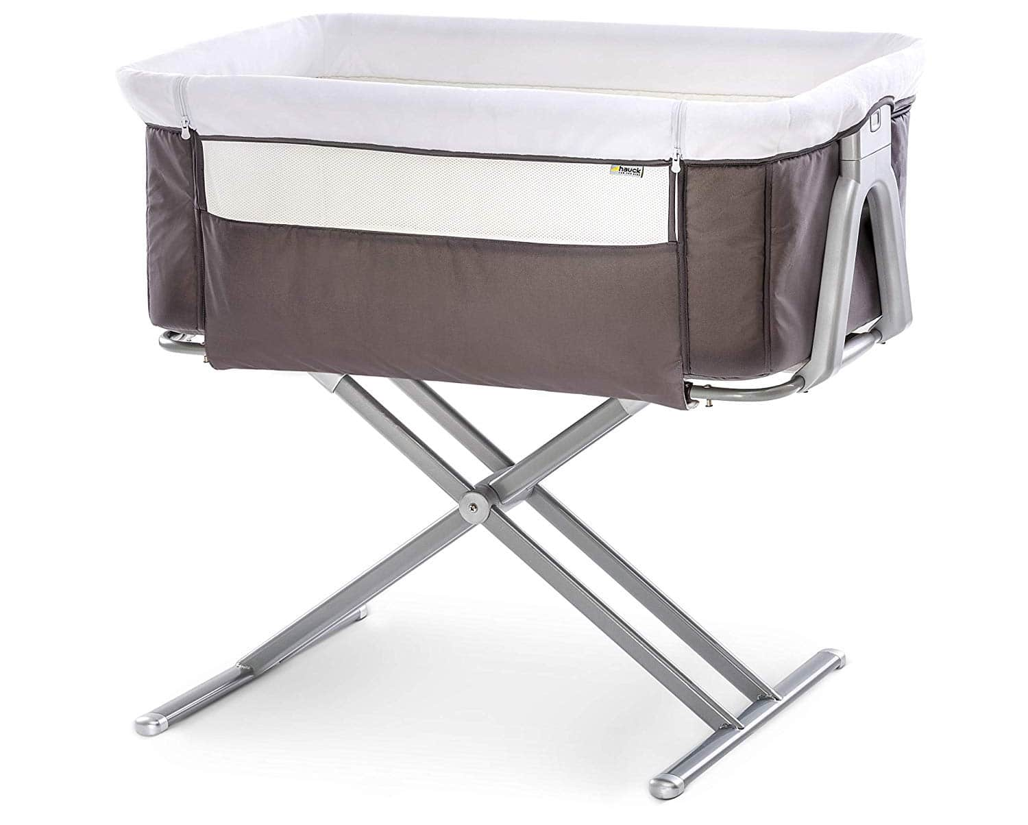 Hauck - Fun for Kids Face to Me Height-Adjustable Bassinet, Co-Sleeping Cradle, Folding Bedside Crib