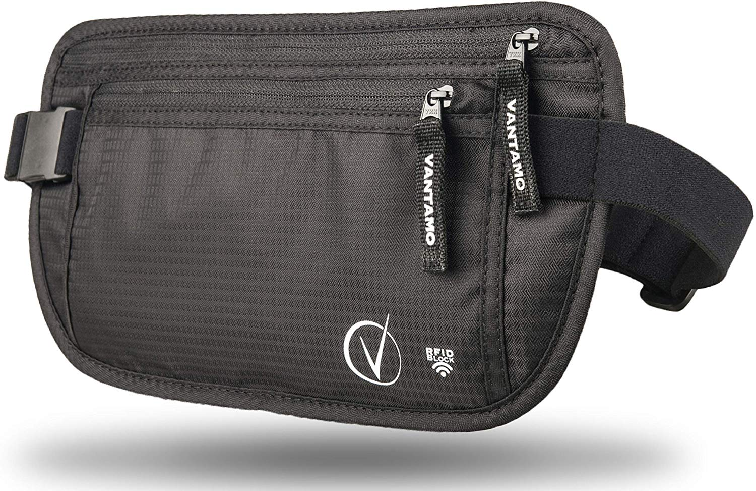 Money Belt For Travel Hidden, RFID Protected Waist Wallet, Fits Passport with cover, Includes 2 Global Recovery Tags