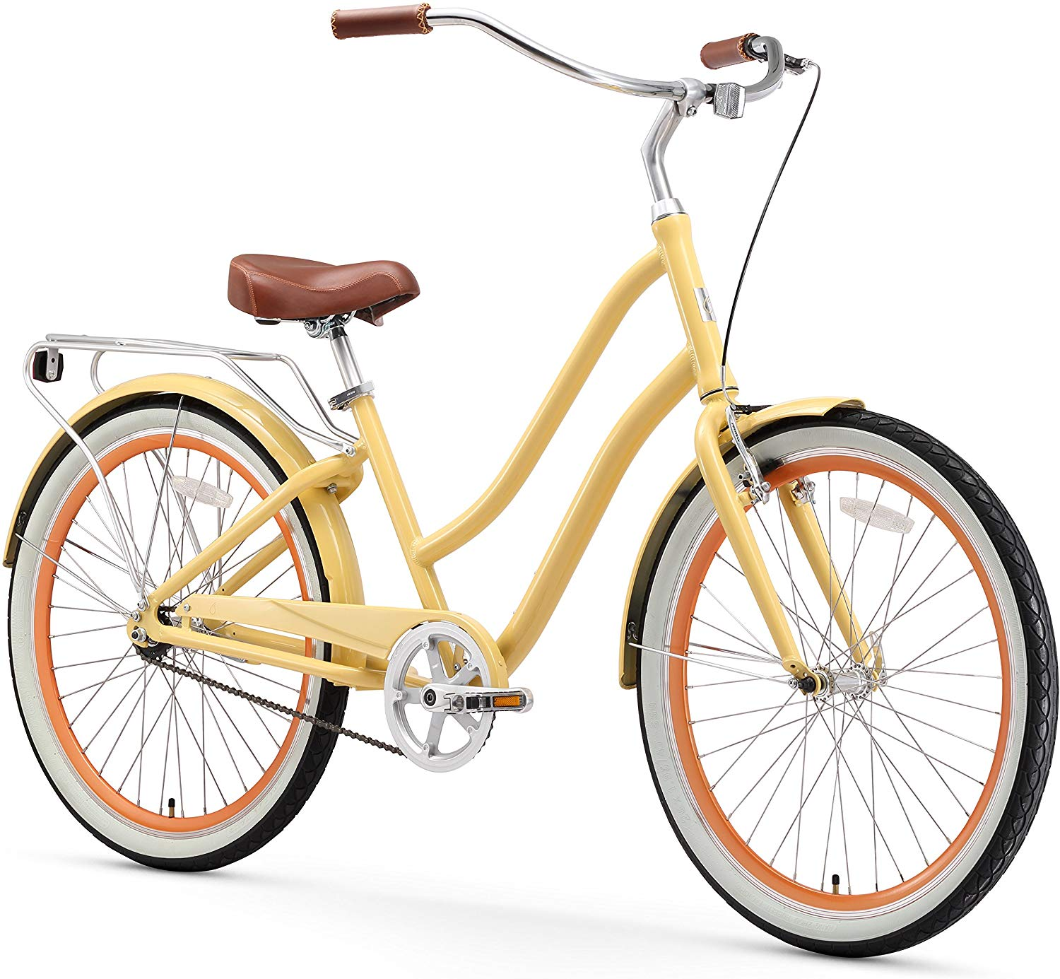 sixthreezero EVRYjourney Women's Step-Through Hybrid Alloy Beach Cruiser Bicycle