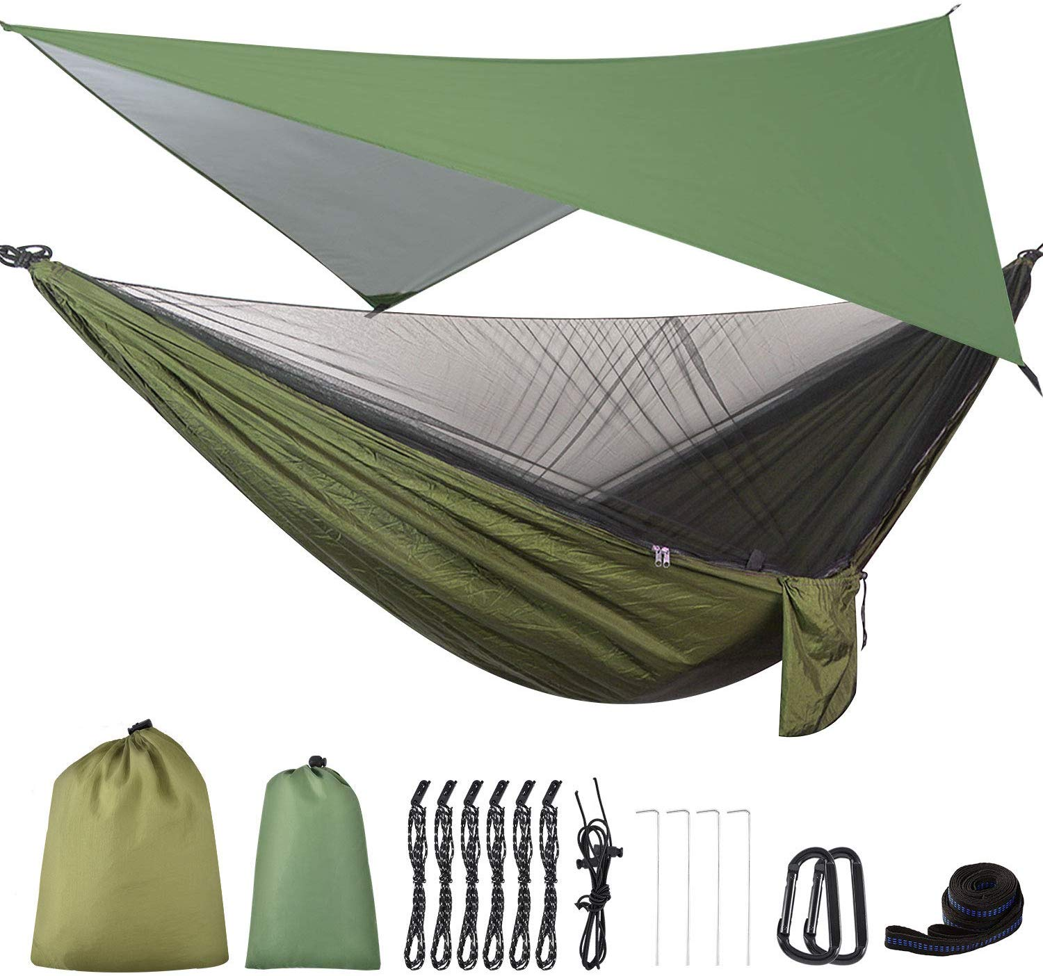 FIRINER Camping Hammock with Mosquito Net