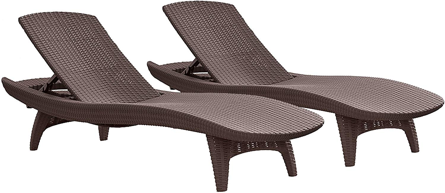 Keter Set of 2 Pacific Sun Lounge