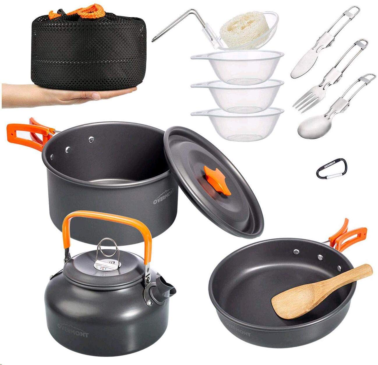 Overmont Camping Cookware Mess Kit