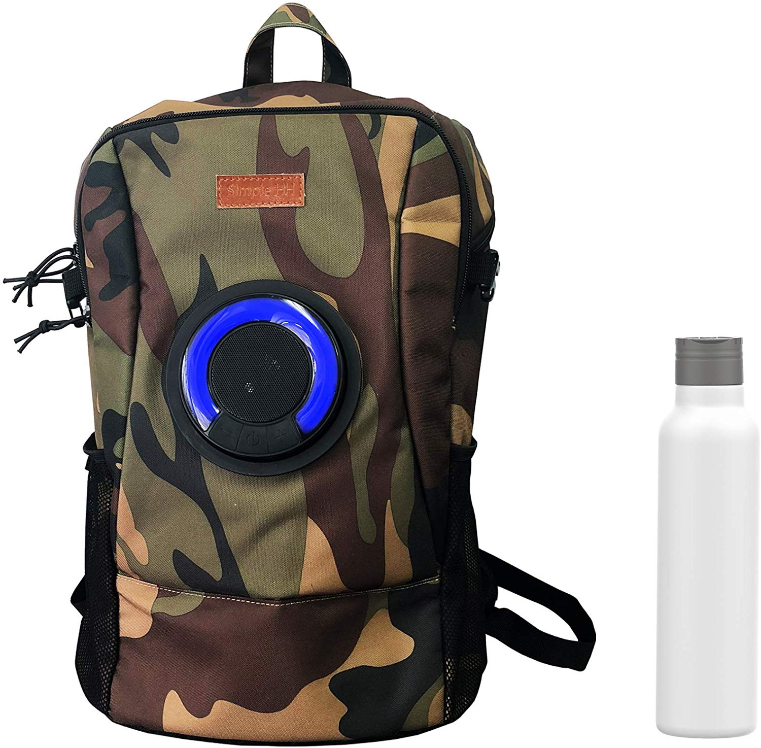 Simple HH Travel Laptop Backpack with Speakers