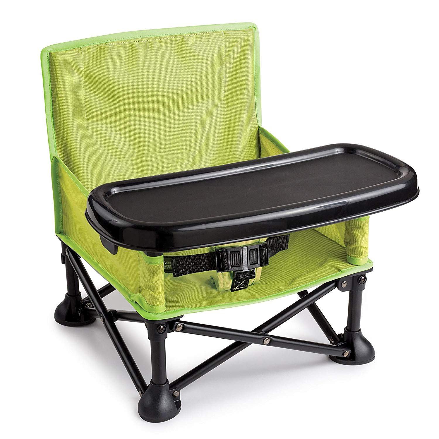 Summer Infant Pop and Sit Portable Booster, Green and Grey