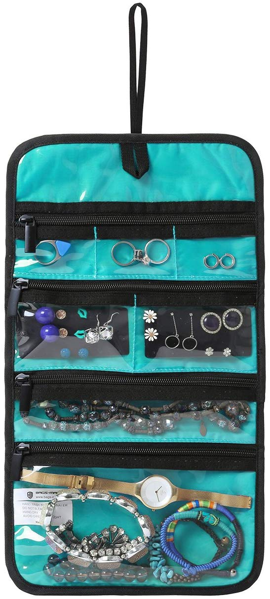 Bagsmart Hanging Travel Jewelry Roll Bag