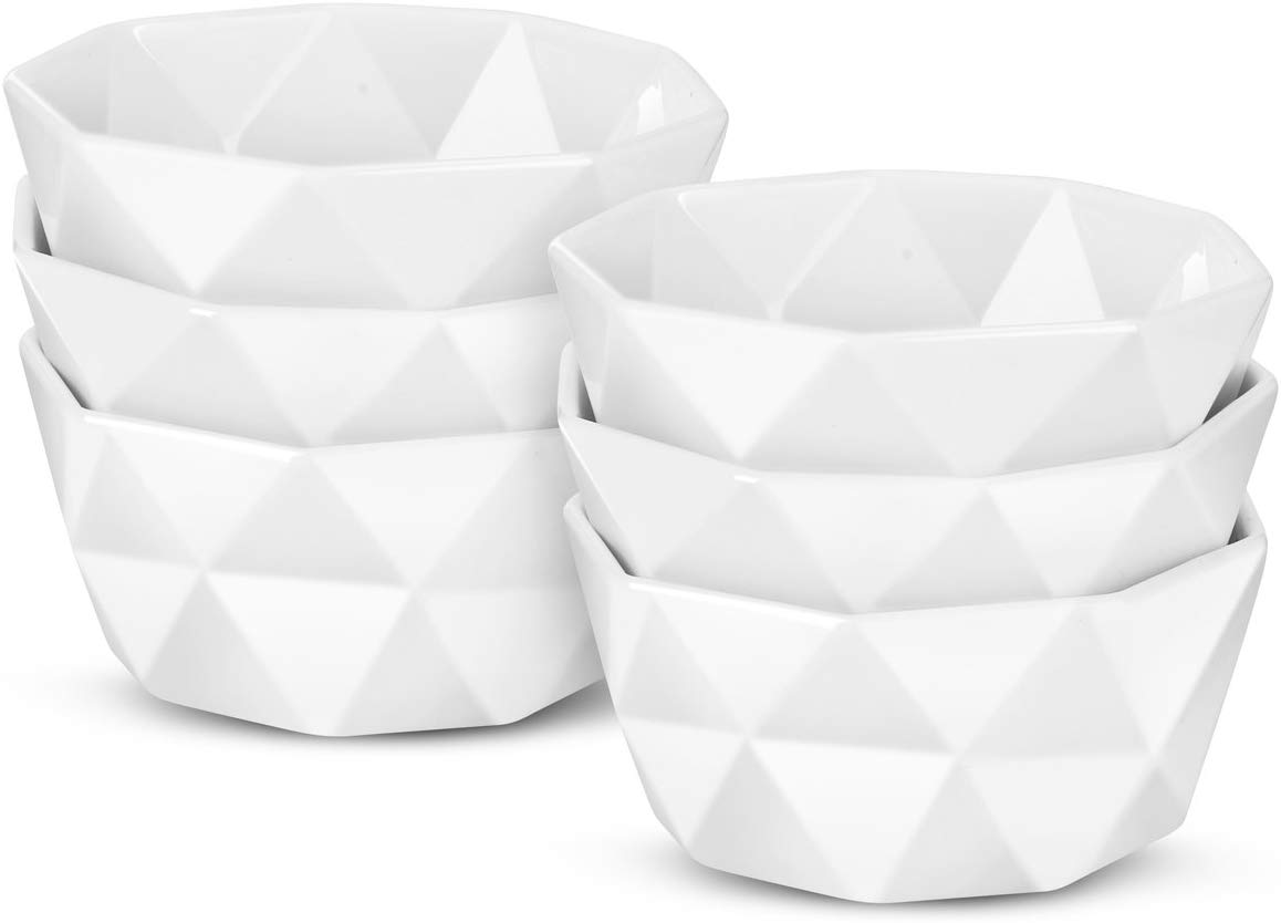 DELLING Geometric 8 Oz Porcelain Bowls – Set of 6