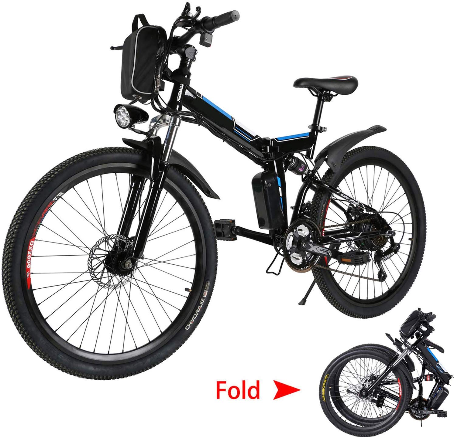 Emdaot 26 Inch Electric Mountain Bike