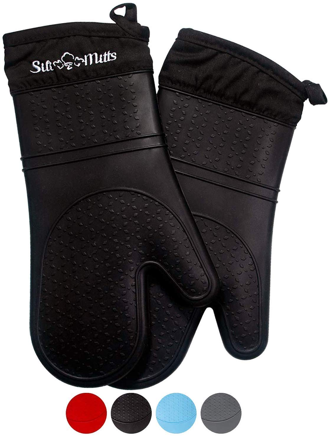 Frux Home and Yard Black Silicone Oven Mitts – 1 Pair