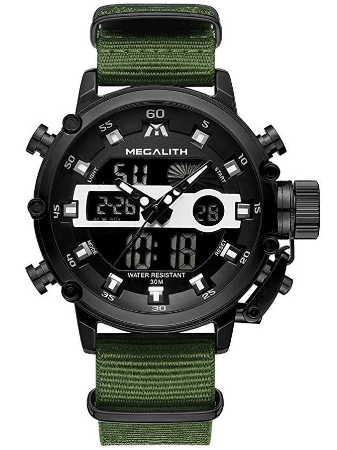 MEGALITH Men's Sports Military Watch