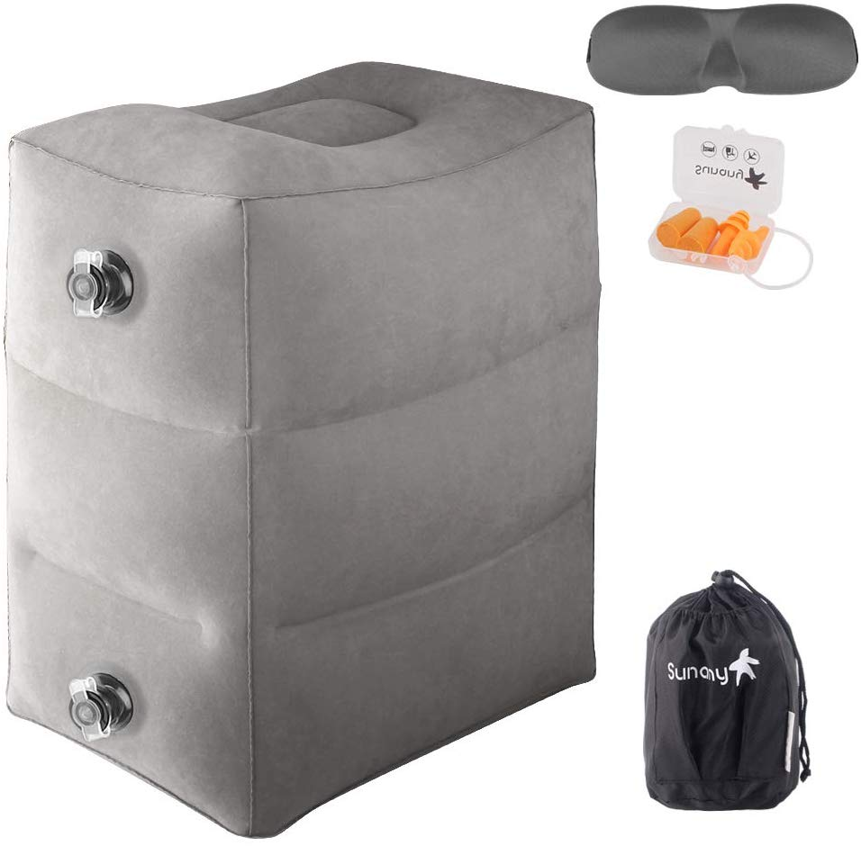Sunany Inflatable Foot Rest Pillow