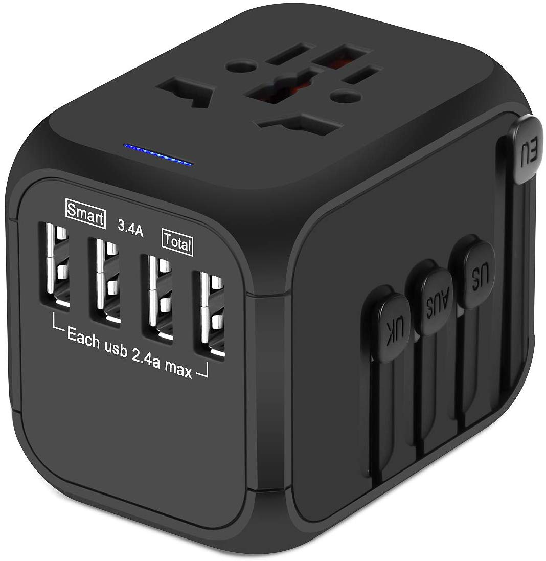 Upgraded Universal Travel Adapter by Castries