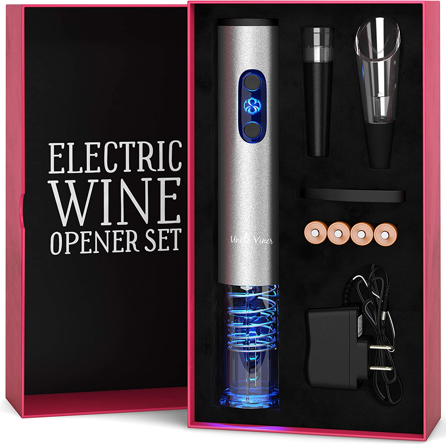 Electric Wine Opener Set by Uncle Viner