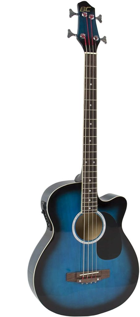 Best Choice Products Acoustic Electric Bass Guitar - Full Size, 4 String, Fretted Bass Guitar