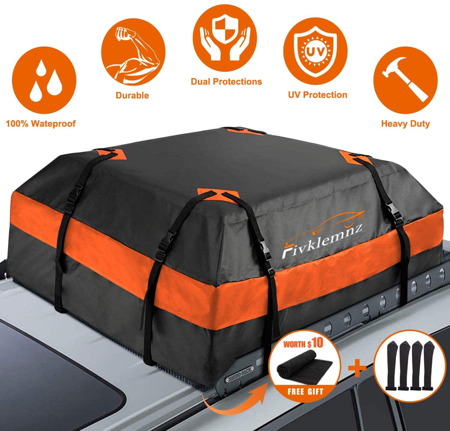 FIVKLEMNZ Car Roof Bag Cargo Carrier