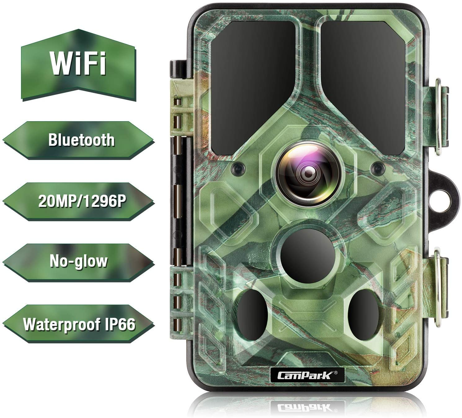 Campark 20MP 1296P Trail Camera with 940nm IR LEDs