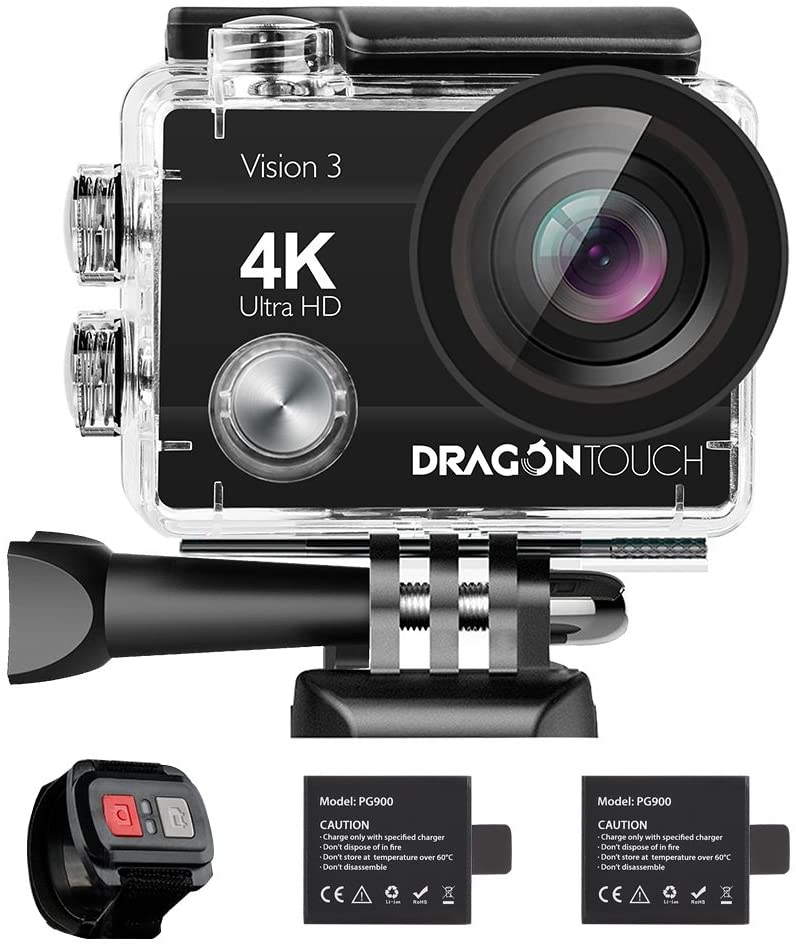 Dragon Touch 4K Action Camera 16MP