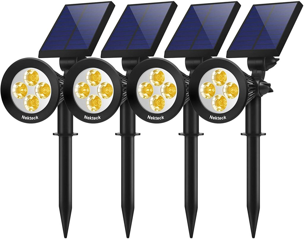 Nekteck 4 Pack Solar Light Outdoor