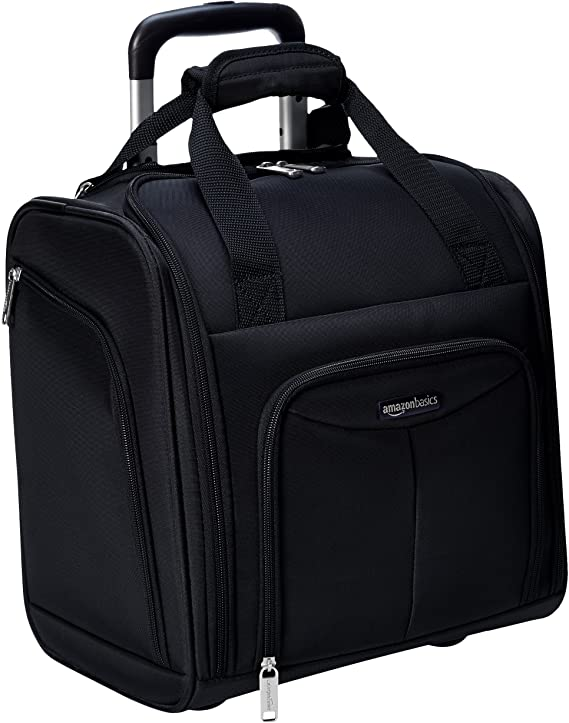 mazonBasics Underseat, Carry-On Rolling Travel Luggage Bag