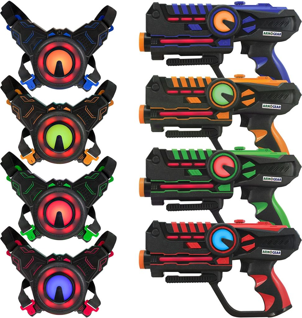 ArmoGear Laser Tag Guns with Vests Set