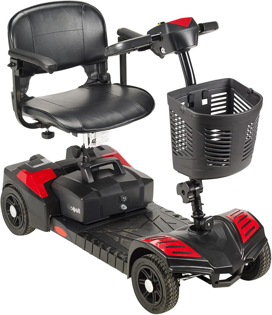 Drive Medical SFSCOUT4-EXT Scout Compact Travel Power Scooter