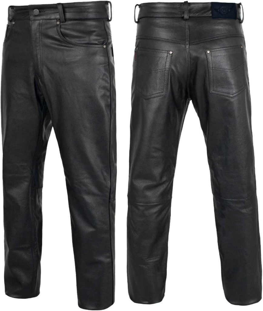 Alpha Cycle Gear Leather Motorcycle Pant