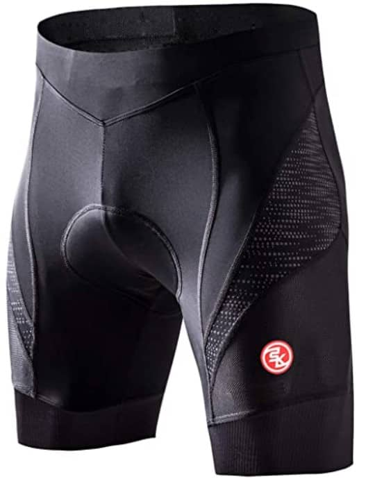 Eco-daily Men's Padded Bicycle Riding Half Pants