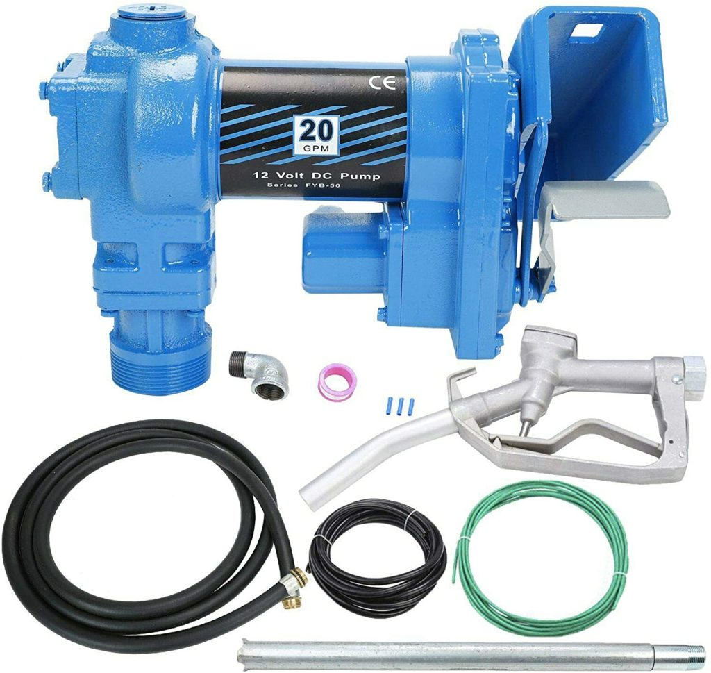 SUPERFASTRACING 20GPM 12V DC Fuel Transfer Pump