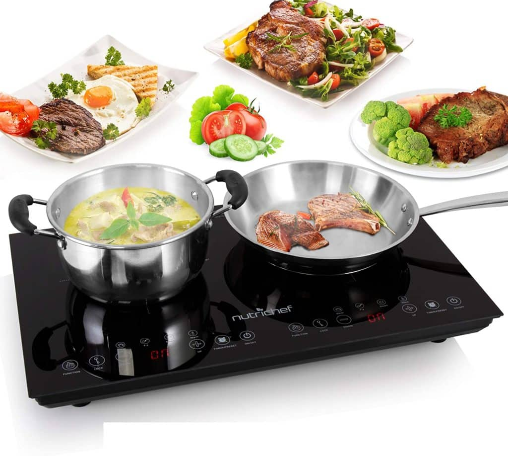 Double Induction Cooktop - NutriChef PKSTIND48 by NutriChef Store