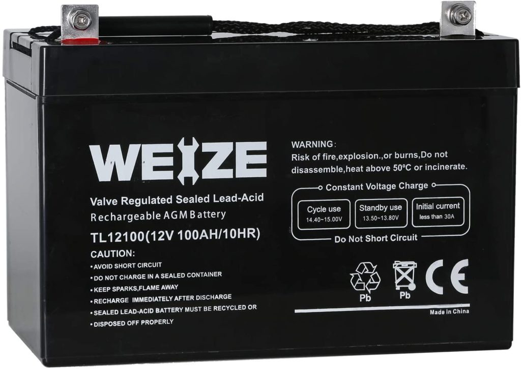 Weize 12V 100AH Deep Cycle AGM SLA VRLA Battery